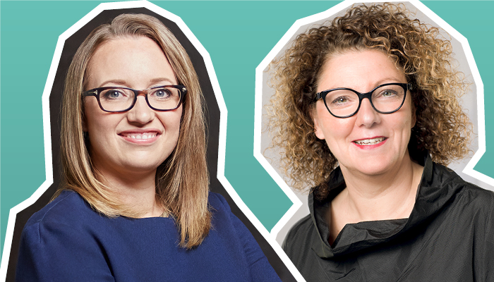 Christa Stienen und Natascha Hoffner
