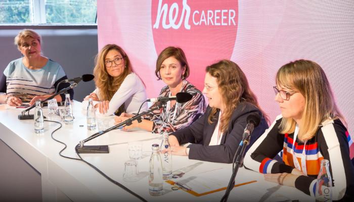 """herCAREER Podcast - Diskussionsrunde zu """"KI und Europa: Chancen, Risiken und Erfolgsfaktoren"""