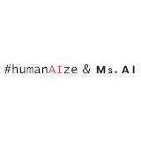 Ms. AI & #humanAIze Logo